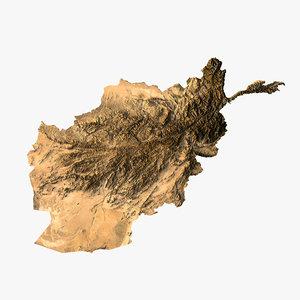 relief afghanistan 3D model