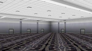 3D model ballroom hotel room
