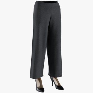 3D realistic women s pants