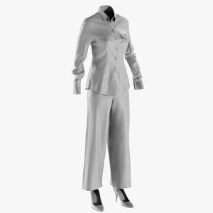 3D mesh women s pants