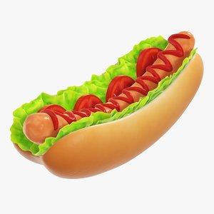 salad dog tomato 3D model
