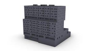 3D sugar hill building