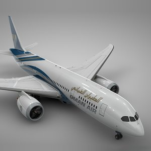 3D boeing 787 dreamliner oman