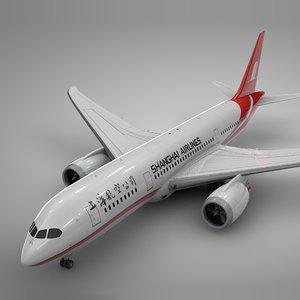 boeing 787 dreamliner shanghai 3D model