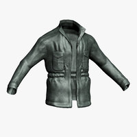 Leather Jacket Low Poly
