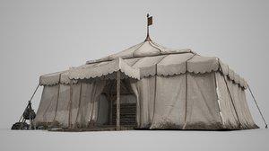 large tent houses 3D