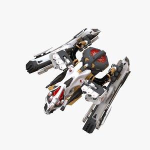 pegasos fight drone rigged model