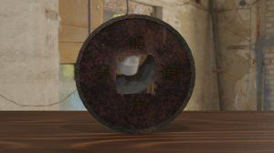 coin antique chinese 3D model