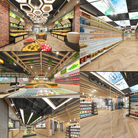 Supermarket Collection 3D model