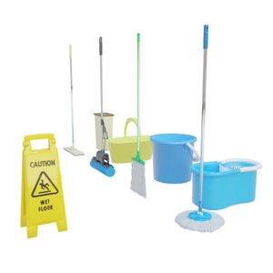 3D mop bucket wet