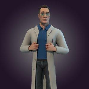 male doctor 3D model