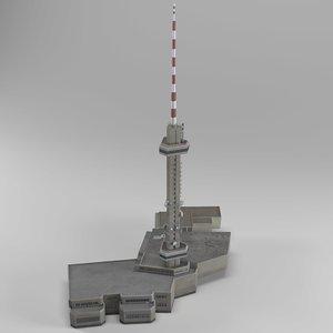 3D kopitoto tv tower vitosha