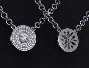 jeweleyr pendant stones 3D model