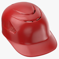 Baseball Catchers Helmet with Padding Red