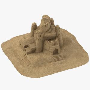 sand castle 02 3D model