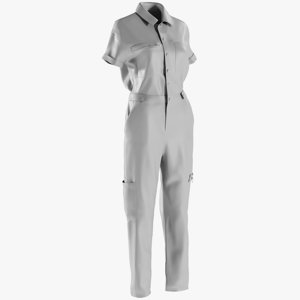 3D model mesh women s overalls