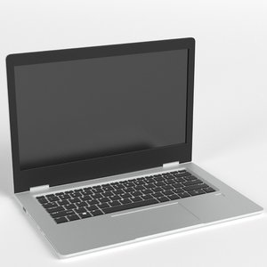 notebook laptop computer 3D model