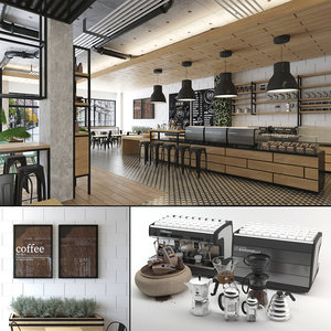 3D store coffee