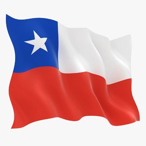 3D realistic chile flag
