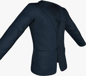 blue blazer jacket 3D model