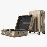 Travel Suitcase Rimowa Original Cabin Titanium