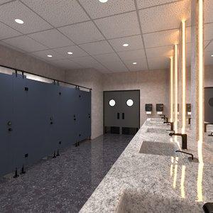 3D mall toilet restroom