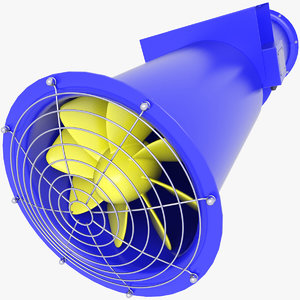fan duct ventilation 3D model