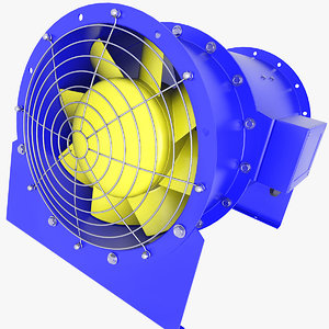 3D fan duct ventilation model