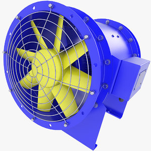 fan duct ventilation 3D