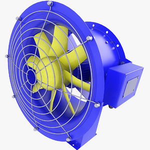 3D fan duct ventilation