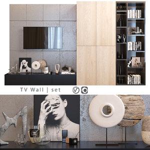 wall tv 3D model
