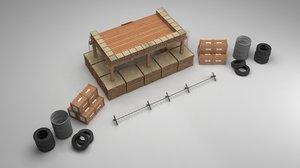 military war 3D model