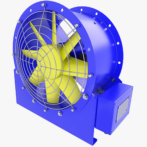 fan duct ventilation model