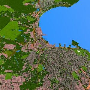3D building street city model
