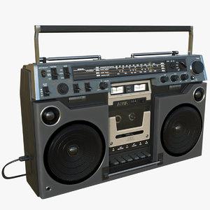 boombox aiwa 3D model