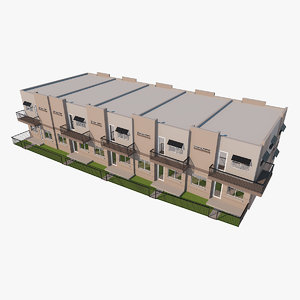 3D town house townhouse model