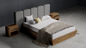 king bed 3D
