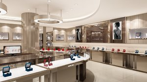 3D jewelry store interior model