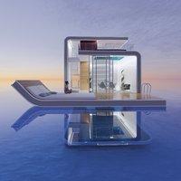 Futuristic sea house
