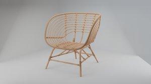 buskbo ratan armchair 3D model