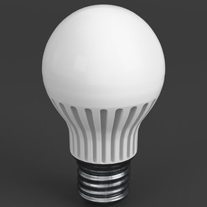 florescent led light bulb lamp 3d obj