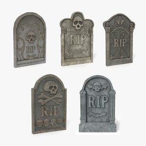 grave gravestone 3D model