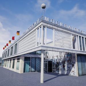 moskau east berlin 3D model
