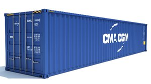3D shipping container cma cgm