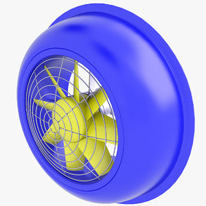 3D fan ventilation industrial