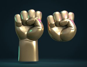 3D fist relief