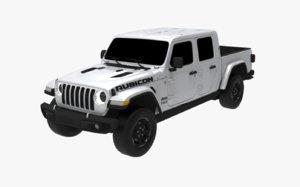 3D model jeep gladiator 2019