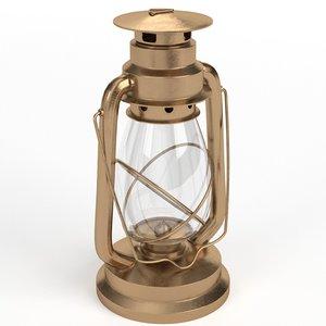 3D kerosene lamp model