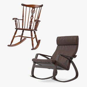 rocking chairs furniture 3D model