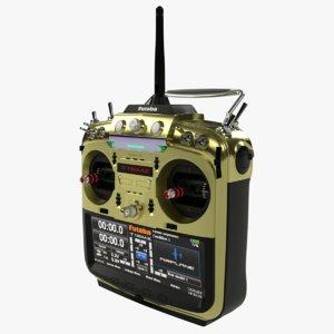 3D control transmitter futaba t18mz model